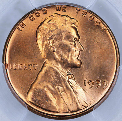1959 PCGS MS66RD Lincoln Cent