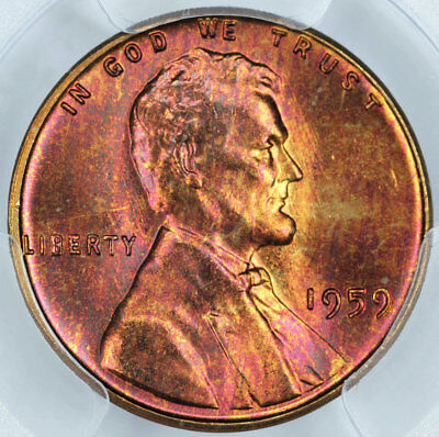 1959 PCGS MS66RB Attractively Toned Lincoln Cent