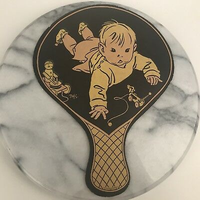 Vintage Advertising Fan Allied Fly & Pest Spray Baby with Toys Franklin Missouri