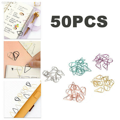18BF Metal Colorful Lovely Paperclips Paper Clips Storage Paper Book Reading