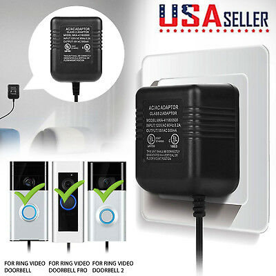 6M Cord Power Supply Adapter Transformer for Ring Video Doorbell 1/2/2 Pro