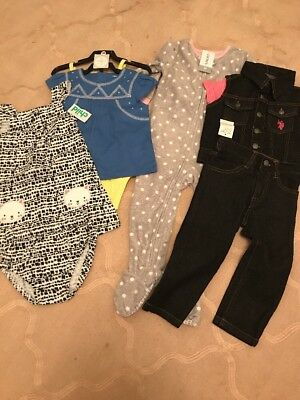 Nwt Lot Baby Girl Toddler 18m 2t Carter Us Polo