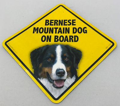 Bernese Mountain Dog On Board Magnet Laminated Car Pet Magnet NEW 6x6