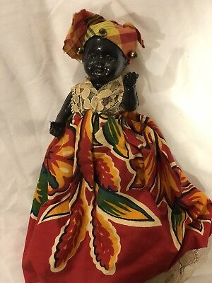 Small Plastic Black African Doll