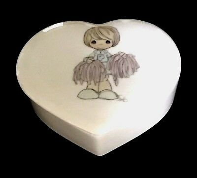 Precious Moments  Cheerleader Jewelry Box / Lid   Excellent. Free Ship