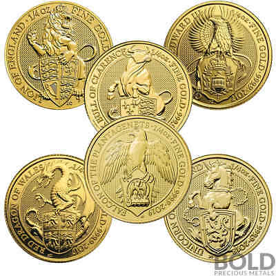 BOLD Set: Gold Queen's Beasts 6 Coin Set (1/4 oz)