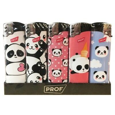 Lot De 5 Briquets Panda Kawai Cute Rechargeable