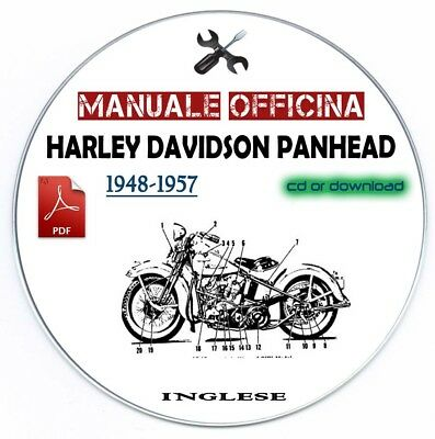 Manuale Officina Harley Davidson Panhead Workshop Manual Service 1948-1987