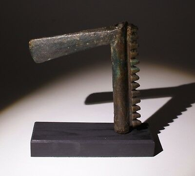 Ancient Luristan Bronze Comb Back Axe Head - Circa 2000-1500Bc 08