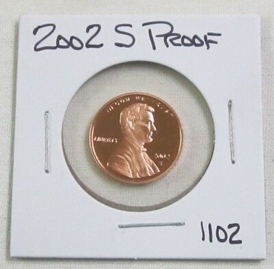 2002 S Proof Lincoln Memorial Cent/Penny (1102)