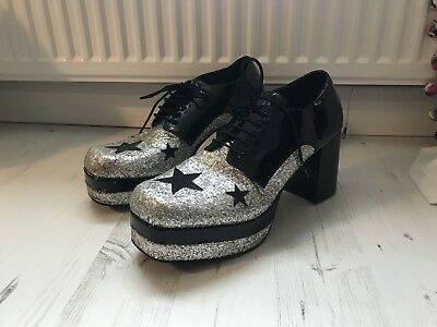 Mens Glittery platform shoes