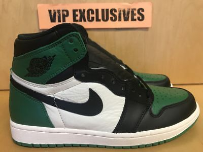"Nike Air Jordan 1 Retro One OG High 2018 ""Pine Green"" 555088-302 New Authentic"