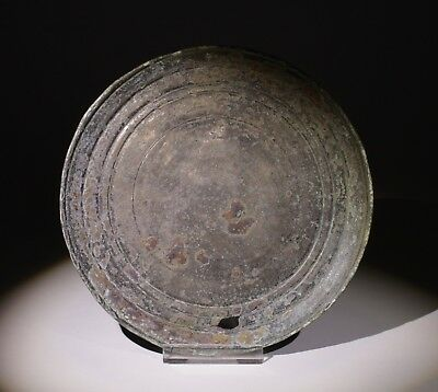 FABULOUS LARGE ANCIENT ROMAN BRONZE MIRROR - 2nd/3rd Century AD 032
