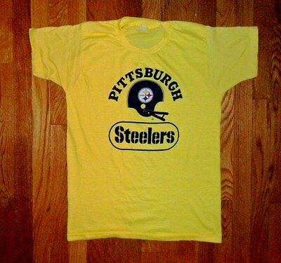 Vintage 80s Pittsburgh Steelers Shirt Pirates Penguins NFL Football FREE SHIPING