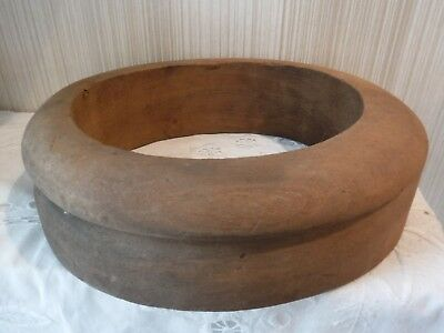 VINTAGE Wooden Millinery Hat Making Hat Brim Mold Sz 7 and 1/8th