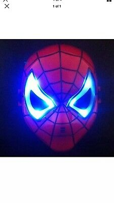 Spiderman Led Glowing Red Mask Kids Cosplay Homecoming Party Costume Gift
