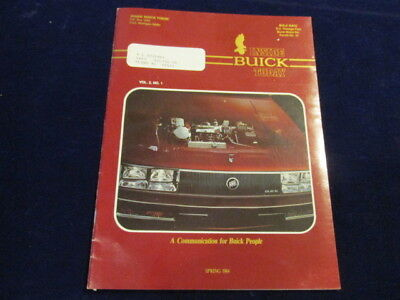 1984 Inside Buick today 16p Color Employee Newsletter Park Avenue centerfld Q148