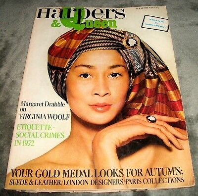 HARPERS AND QUEEN MAGAZINE September 1972 DUFFY Norman Eales David Bowie VINTAGE