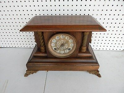 Antique Vintage WATERBURY Shelf Mantle Clock 39-18