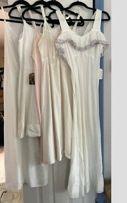 Vintage Clothing Womens Full Slips Lingerie Nightgown Size S/M Lot #5