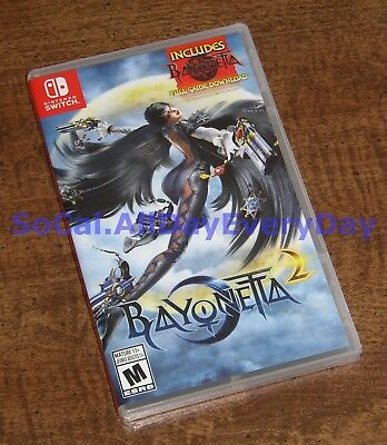 Bayonetta 2 with Bayonetta 1 Digital DL (Nintendo Switch) BRAND NEW & SEALED nsw