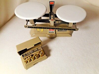 Vintage Ohaus Balance Scale with Weights-Fisher Scientific Balance Scale