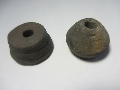 LOT OF 2 SPINDLE WHORL (1st - 3rd Century A.D.)  FROM GERMANY. SPINNWIRTEL