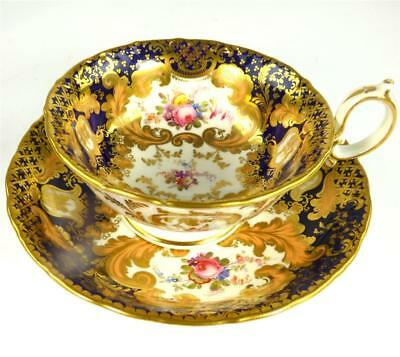C1830-45 FINE ANTIQUE ENGLISH PORCELAIN TEA CUP & SAUCER MINTON  a
