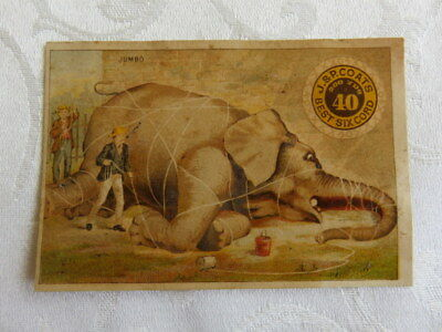 Victorian Trade Card,  Jumbo Tied Up With Thread, J & P Coats