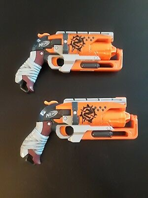 Nerf Zombie Strike Hammershot Blaster / Toy Dart Gun * LOT OF 2