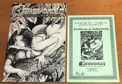 RARE CAVEWOMAN PREHISTORIC PINUPS SPECIAL EDITION LIMITED TO 750 w COA Budd Root