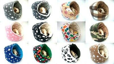 """*cozy Pets*guinea Pig Bed Pod House Fleece Snuggle Cuddle Cup Pouch Sleeping 10"""""""