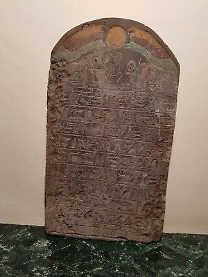 Rare Antique Ancient Egyptian Stela Book of Dead Scarab Magic  death 1790-1680BC