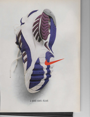 Vintage Print Ad For Nike Shoe Ready To Be Framed Or Gift Idea! 1-800-645-3145