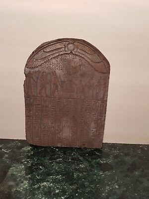 Rare Ancient Egyptian Stela Book of Dead Magic Words Gods After Death1840-1760BC