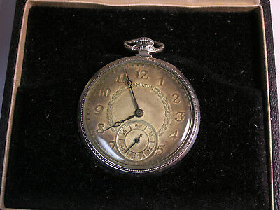 Original 1938 Hamilton Pocket Watch 17J 3,317,946 Open Face Size 10 Railroad