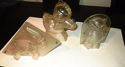 UNIQUE VINTAGE LOT GREEK PLASTIC MOLDS FOR EASTER CHOCOLATE CANDY'S 50s-60s