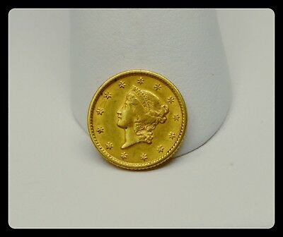 1851 $1 Dollar Gold Liberty Head Gold Coin XFMint Luster No Reserve Auction!!