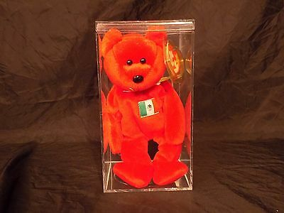 Vintage Beanie Baby Osito w/ Tag protector and Display Case