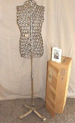 "Vintage Mid Century Wire Metal  ""My Double"" Dress Form by Dritz NOS original box"