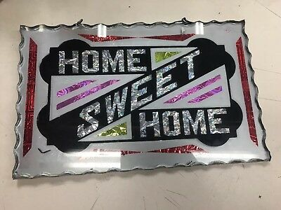 Antique Reverse Glass Home Sweet Home Sign