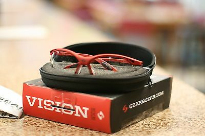 GEARBOX RACQUETBALL VISION PROTECTIVE eyewear RED COLOR