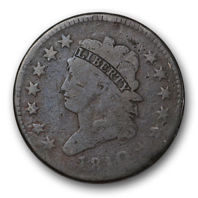 1810 Large Cent Classic Head Good to Very Good Original US Coin #7763