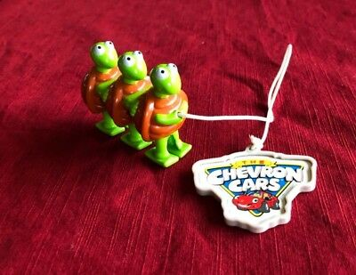 Chevron  3 Turtles Ramp Walker Toy 1999