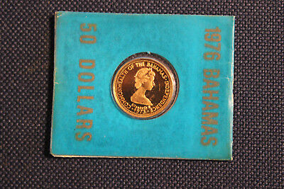 1976 Bahamas $50 (0,917 Fine) Gold - Anniversary of Independence w/ COA