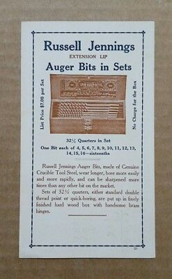 Russell Jennings Mfg.Co.Chester,CT.,Auger Bits Trade Card,1900's