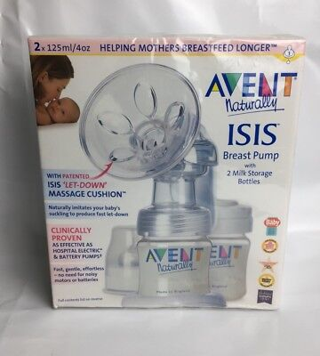 BNIB Avent Naturally Isis Manual Breast Pump + Tommee Tippee x20 Milk Bags Baby