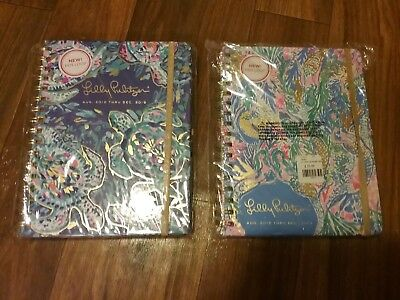 Lilly Pulitzer Nwt 1 Large Agenda &1 Large Planner In Party Wave & Mermaids