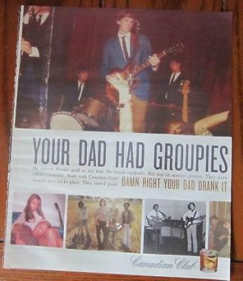 """2008 Rolling Stone Magazine Print Ad For Canadian Club """"your Dad Had Groupies"""""""