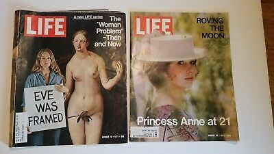 Lot of 2 Vintage LIFE Magazines (August, 1971)
